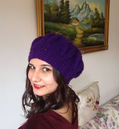 Beanie Hat  Knit Beanie  Slouchy Knitted Beanie  by aylaboutique, $25.00