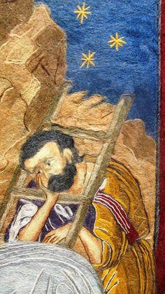 Epitaph - Επιταφιος - Плаштаница - Плащаница Fiber Art, Painting, String Art, Painting Art, Paintings, Painted Canvas, Drawings