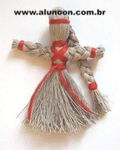 We make a doll amulet. Шаг 8 We make a doll amulet. Jute Crafts, Pom Pom Crafts, Diy And Crafts, Crafts For Kids, Yarn Dolls, Crochet Decoration, Christmas Crafts, Christmas Ornaments, Silk Ribbon Embroidery
