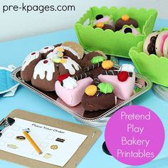 Pretend Bakery Play Printables to spice up the dramatic play center in preschool or kindergarten!