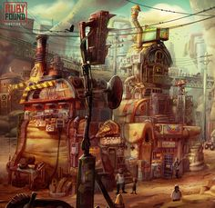 ArtStation - Ruby's Hometown, Yangtian Li