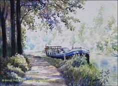"""Benoit Philippe """"La Peniche"""" watercolor"""