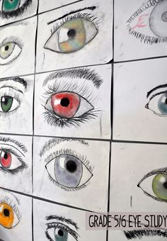 artisan des arts: Eye study - Could be a fun iPad photography/photo editing lesson, too!