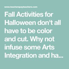 Fall Activities for Halloween don't all have to be color and cut. Why not infuse some Arts Integration and have your students engaged in your lessons with drawing and painting? Watch how easy it is to paint with markers and get your students excited about the pumpkin life cycle, Spookly the Square P...