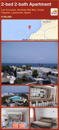 2-bed 2-bath Apartment in Las Coronas, Avenida Del Mar, Costa Teguise, Lanzarote, Spain ►€195,000 #PropertyForSaleInSpain