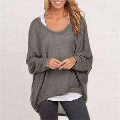 ZANZEA 2016 Autumn Women Batwing Long Sleeve Blusa Shirts Female Casual Loose Solid Tops Blusas Femininas Plus Size 9 Color