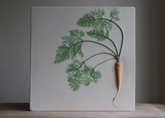 New Plaster Cast Tiles That Immortalize Flowers and Veggies by Rachel Dein - Creative Anchor Plaster Crafts, Plaster Art, Plaster Molds, Plaster Of Paris, Colossal Art, Clay Tiles, Chelsea Flower Show, Diy Arts And Crafts, Easy Crafts