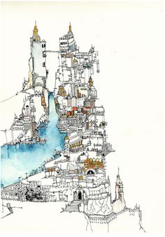 ★ Watercolour and Ink Drawing | Art Journals, Moleskines & Travel Sketchbooks â˜