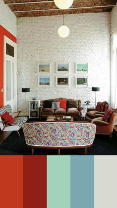 A modern classic living room, color study 43