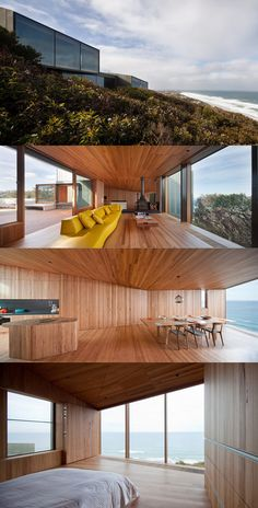 Fairhaven Beach House - Design: John Wardle Architects  Photos: Trevor Mein  Beautiful warm timber all the way through the interior, bold geometries and amazing views out from the dunes of Fairhaven in Victoria.
