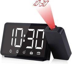 "5"" Projection Alarm Clock with FM Radio Digital Clock Radio, Radio Alarm Clock, Projection Alarm Clock, Digital Projection, Led Projector, Watch Sale, Flip Clock, Usb"