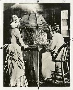 Pyramid telephone switchboard, installed at Richmond, Va., 1882.