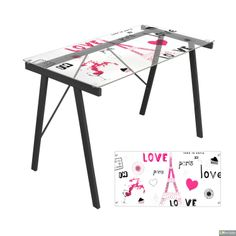 This simple desk has cute, whimsical designs, perfect for any child's study area.