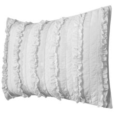 Simply Shabby Chic® Ruffle Sham - White (Standard) : I would like to buy a sham to make Evie and Lily's bed complete.
