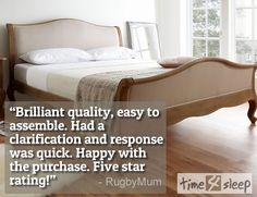 """Amelia Oak Bed Frame Review """"Brilliant quality, easy to assemble. Had a clarification and response was quick. Happy with the purchase. Five star rating!"""""""