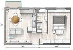 Low cost: 52 mq ristrutturati con solo 228 euro al mq - Cose di Casa