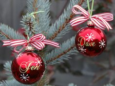 Embroidery Garden: Personalized Vinyled Ornaments