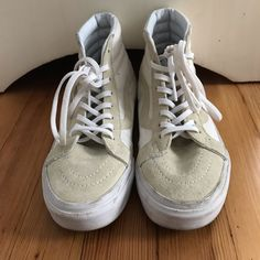 398cc2e1f0 Shop Women s Vans size 6 Sneakers at a discounted price at Poshmark.  Description  Canvas and suede hightop vans.