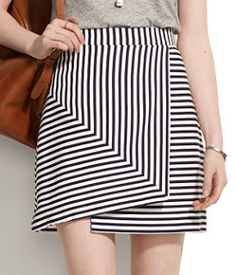 love this striped wrap skirt!