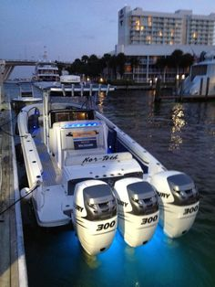 The stunning new Nor-Tech 34 center console on the fuel dock at 15th Street Fisheries in Fort Lauderdale.