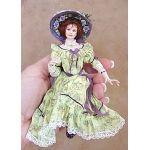 Porcelain doll 1:12 by CDHM Artisan Gina Bellous IGMA Artisan of Gina C. Bellous Miniature Dolls, www.cdhm.org/user/gbellous