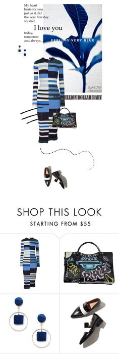 """""""Cozy and Cute: Sweater Dresses"""" by lacas ❤ liked on Polyvore featuring Opening Ceremony, Balenciaga, Sole Society, striped, sweaterdresses and fall2017"""