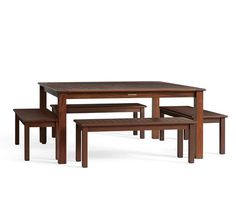 Chatham Square Dining Table & Bench Set | Pottery Barn