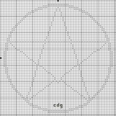 Free Five Point Star in Circle Cross Stitch Pattern - Right click and save this chart from Pinterest and follow the link for the chart info and key.