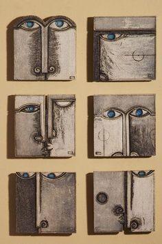 abstract faces wall art by anastasaki opto - contemporary ceramics Ceramic Wall Art, Ceramic Clay, Tile Art, Ceramic Pottery, Pottery Art, Tiles, Sculptures Céramiques, Sculpture Clay, Sculpture Ideas