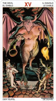 XV. The Deviln - Initiatory Tarot of the Golden Dawn by Giordano Berti, Patrizio Evangelisti