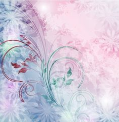 Soft Pink/Blue Abstract Floral Vector Background - http://www.dawnbrushes.com/soft-pinkblue-abstract-floral-vector-background/