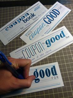 how to make coupon book