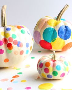 confetti pumpkins | Cloudy Day Gray