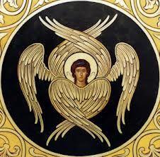 A seraph angel icon / highest rank in the Christian angelic hierarchy Order Of Angels, Angels Among Us, Angels And Demons, Christian Symbols, Christian Art, Tarot, Angel Hierarchy, Cherub Tattoo, Seraph Angel