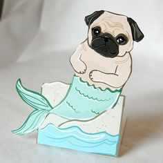 I love mermaids, I love pugs... this is too cute $6.00
