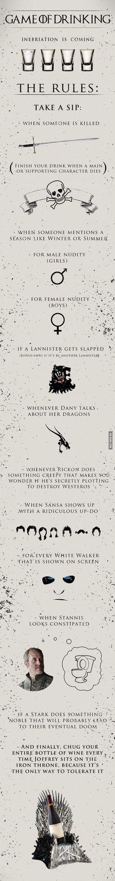 """""""Game of Drinking"""": Das Game Of Thrones Trinkspiel on http://www.drlima.net"""