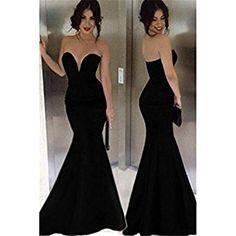 Vestito lungo elegante nero dvd