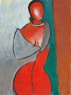 Woman Figure figurative art - oil painting