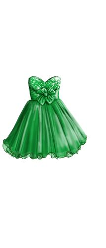 TOPModel green strapless dress