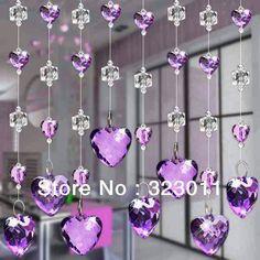 Heart beads Hanging Door Beads, Hearts, Decor, Decoration, Decorating, Deco