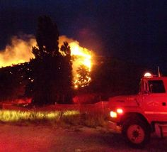 Fireworks ignited a nine-acre fire near Orondo Friday night that forced evacuation of 22 residents in Brays Canyon. July 5, 2014