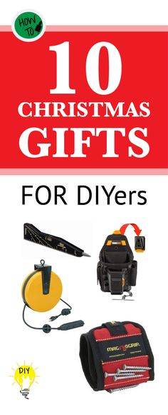 For handy guys and gals who are always working on a project check out these great Christmas gift ideas!