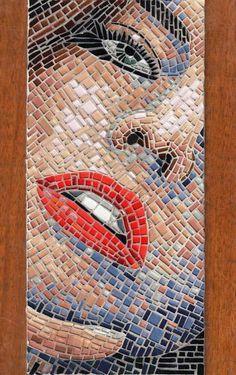 Faccia  6, 2013 by Marzia Dottarelli - Mosaic Artworks