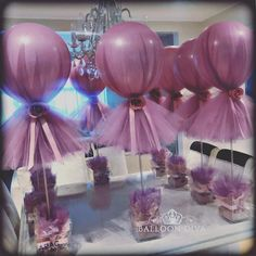 ideas baby shower girl decorations diy tulle balloons for 2019 Tulle Centerpiece, Balloon Centerpieces, Shower Centerpieces, Balloon Decorations, Masquerade Centerpieces, Wedding Centerpieces, Tulle Balloons, Wedding Balloons, Diy Wedding Decorations