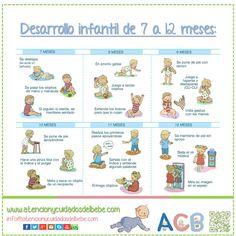 Desarrollo infantil de 7 a 12 meses #atencionycuidadosdelbebe #desarrolloinfantil