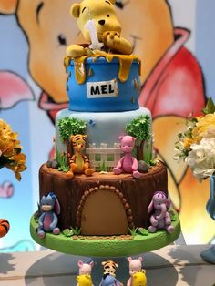 Ideas Birthday Cake Disney Winnie The Pooh Baby Shower Baby Cakes, Baby Shower Cakes, Baby Birthday Cakes, Baby Boy 1st Birthday, Cupcake Cakes, Winnie The Pooh Themes, Winnie The Pooh Cake, Winne The Pooh, Winnie The Pooh Birthday