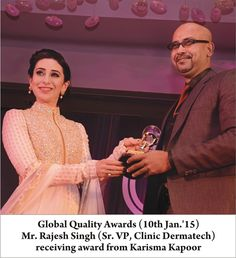 Clinic Dermatech got winner award for quality 2015 and excellence in cosmetic dermatology services; Skin care clinic, anti aging solutions, body shaping, hair care and laser hair removal in delhi / ncr.  To know more about us and offers visit us at www.clinicdermatech.com