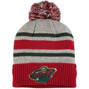 39f337ab250 Men s Fanatics Branded Gray Minnesota Wild True Classic Collegiate Cuffed Knit  Hat with Pom Knit Hat