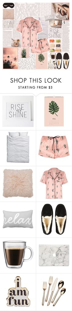 """27. Breakfast in Bed"" by metalheavy ❤ liked on Polyvore featuring WALL, GET LOST, H&M, River Island, M&Co, UGG, Frontgate, Agent 18, ban.do and Towle"