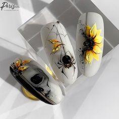 Halloween Acrylic Nails, Gold Acrylic Nails, Halloween Nail Designs, Summer Acrylic Nails, Nail Art Designs Videos, Nail Art Videos, Diy Nail Designs, Romantic Nails, Elegant Nails